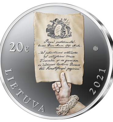 Collector coins dedicated to the Constitution of 1791. Reverse.
